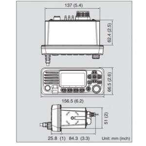 IC-M330GE VHF Radio with GPS Ultra Compact Model