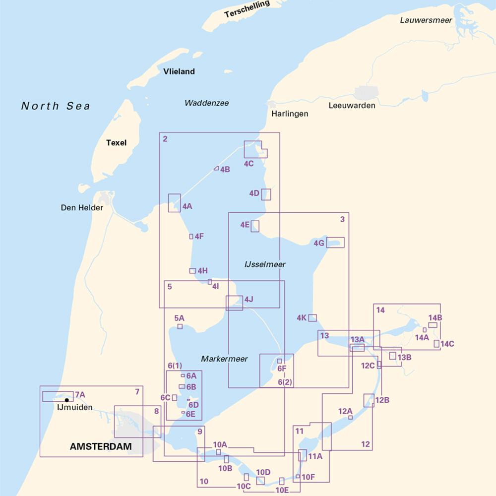 2160 IJsselmeer Chart Atlas