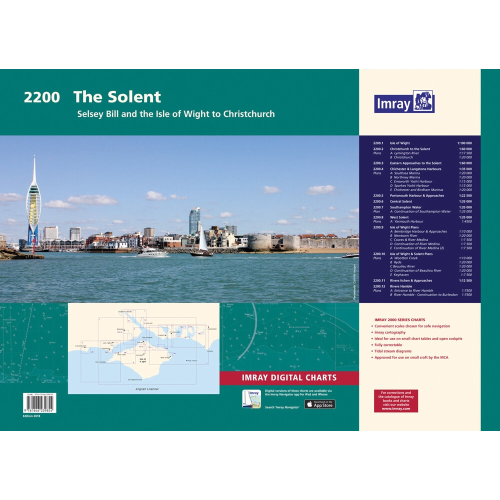 2200 Solent Chart Pack