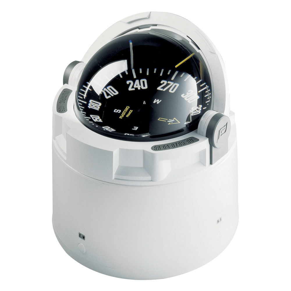 Olympic 135 Binnacle Compass - White/Black