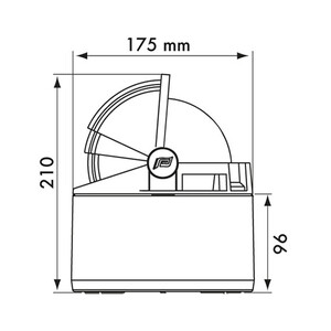 Olympic 135 Binnacle Compass - White/Black