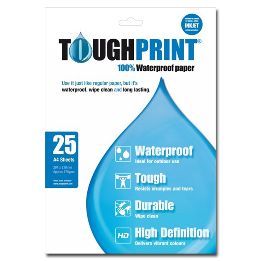 Toughprint Waterproof Paper - Laser (25 Pack)