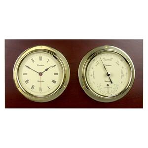 Thames Mounted 11cm Clock & Barometer Set