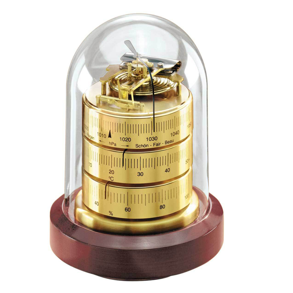 Barometer/Thermometer/Hygrometer in Domed Case