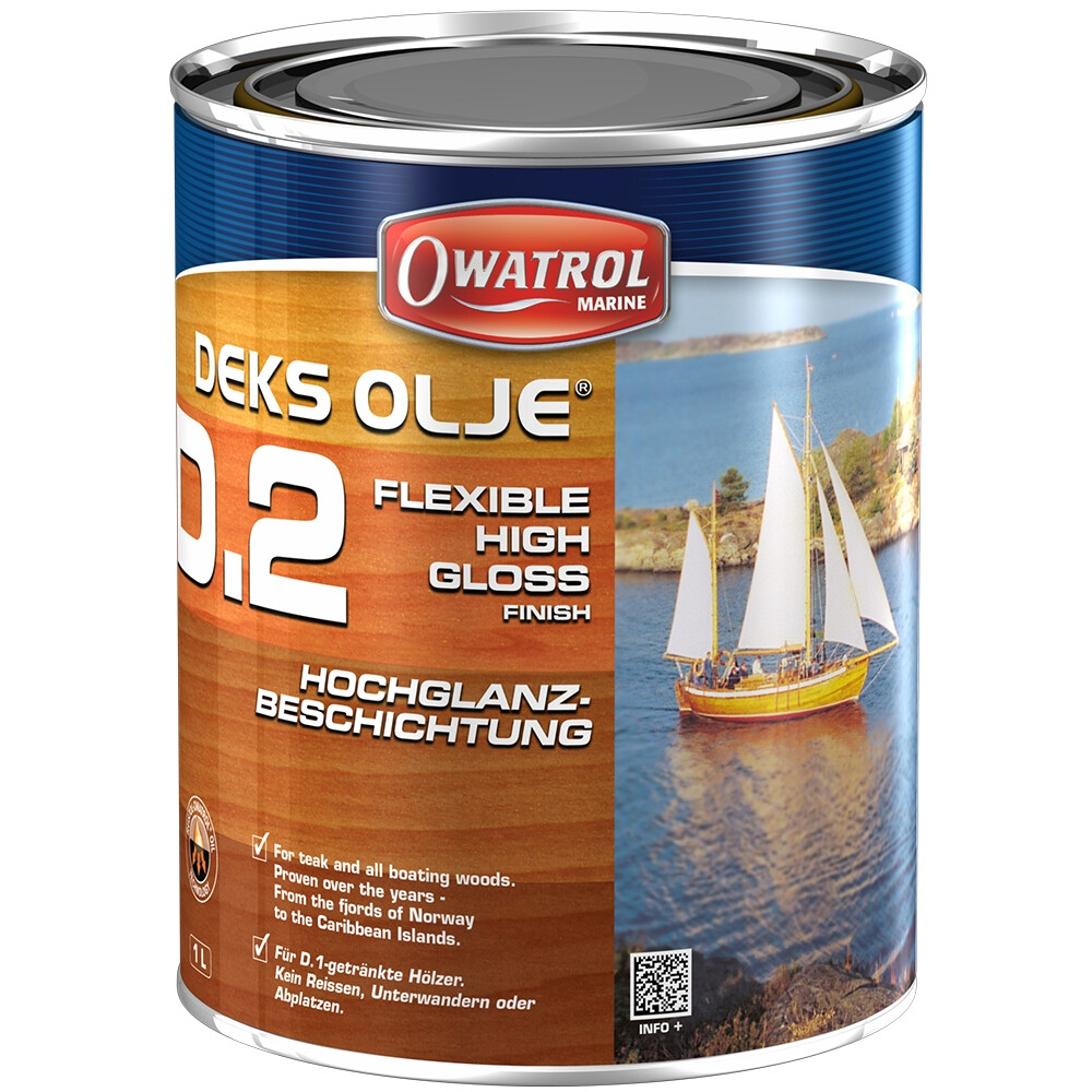 Deks Olje D2 High Gloss Oil Varnish 1Ltr