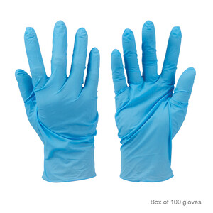 Disposable Nitrile Gloves Blue (100pk)