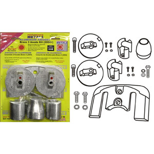 Engine Anode Kit w/Indicator Aluminium - Mercury Bravo 3 (2004+)