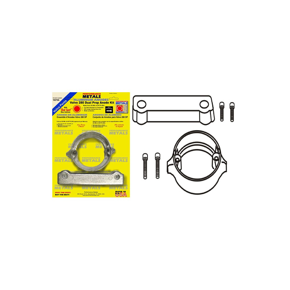 Engine Anode Kit w/Indicator Aluminium - Volvo 280DP