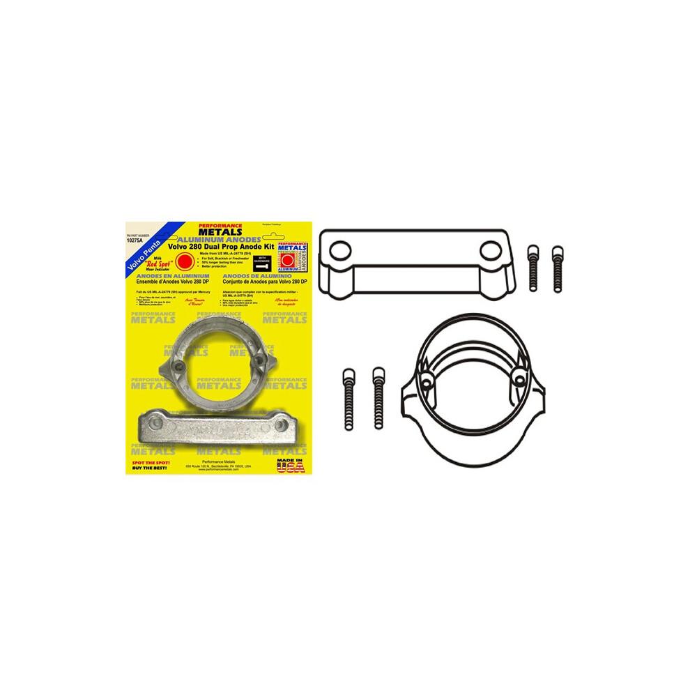 Engine Anode Kit w/Indicator Aluminium - Volvo 280DP