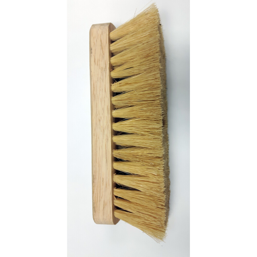 Soft White Fibre Bristle Brush Head - with Free 4 Foot Handl