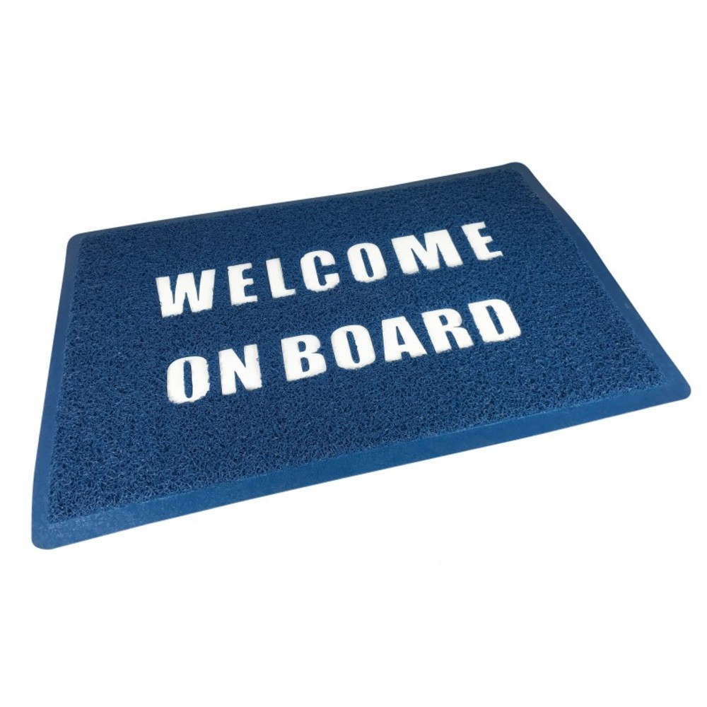 Welcome Aboard Mat - Blue