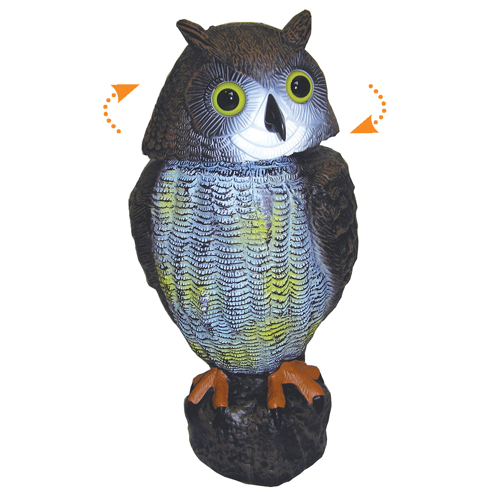 Owl Bird Scarer with Rotating Head