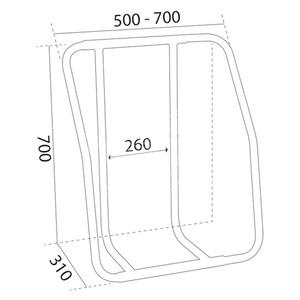 Liferaft Cradle - Vertical Stainless Steel