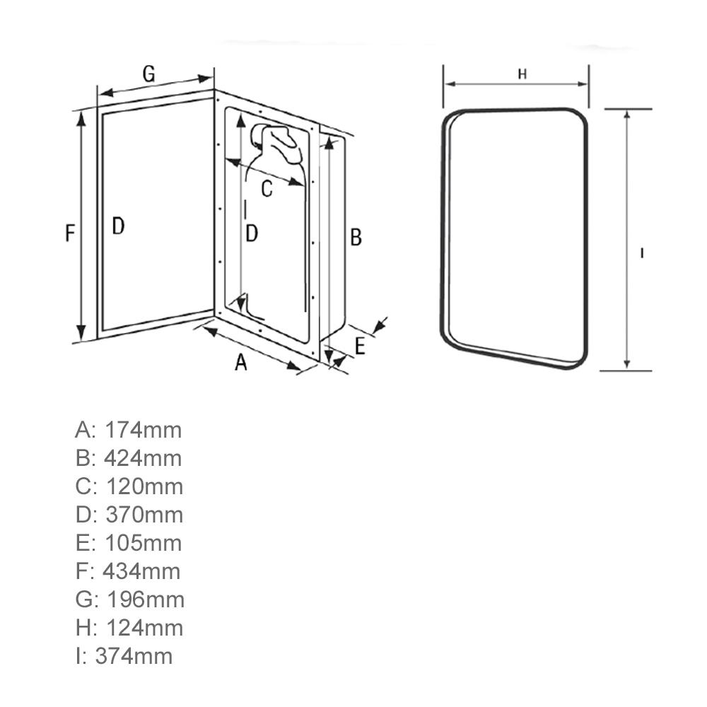 Fire Extinguisher Storage Case With Transparent Door