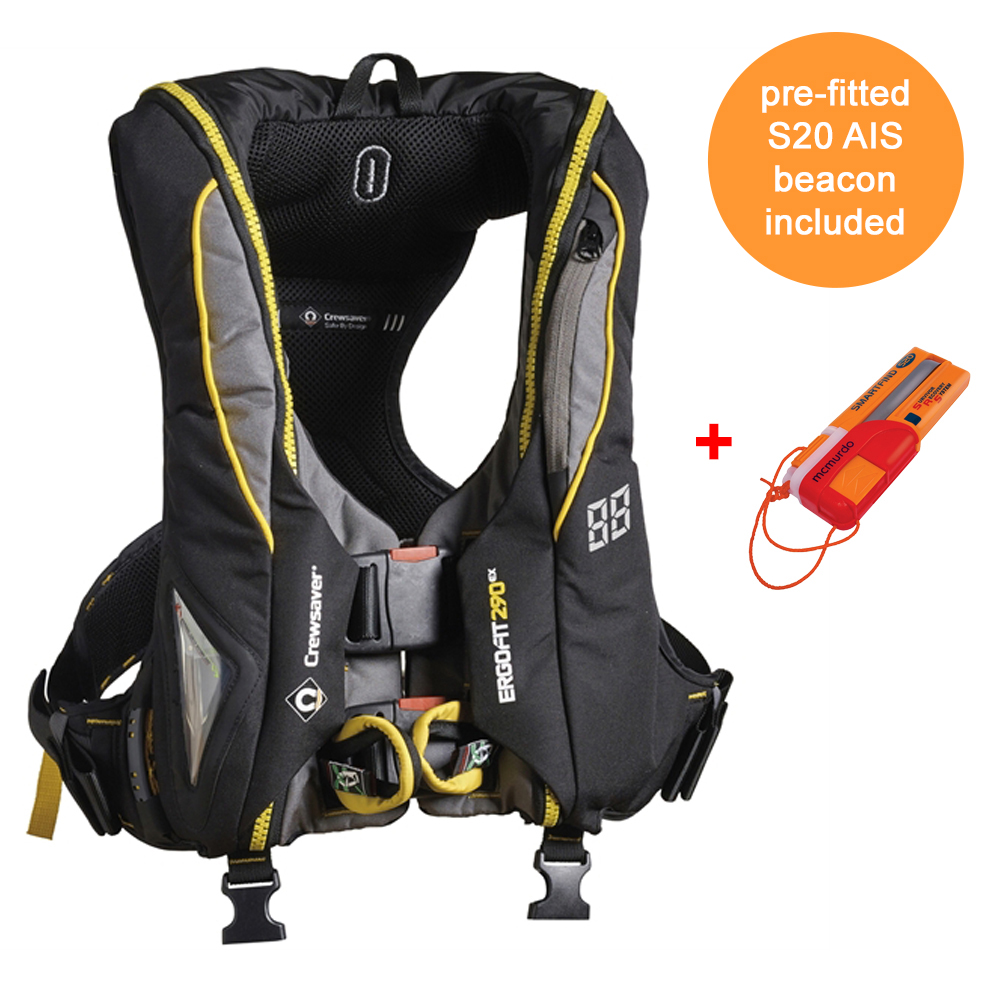 Ergofit 290N Extreme Lifejacket Auto with S20 AIS Beacon