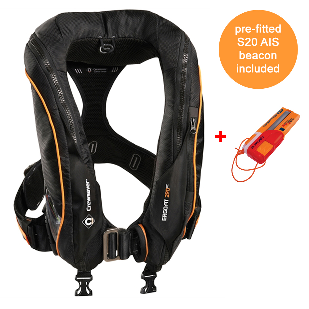 Ergofit 290N Ocean Lifejacket Auto with S20 AIS Beacon