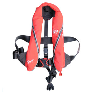 Sport 185 Lifejacket Auto/Harness - Red/Black
