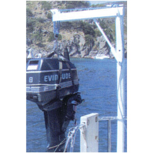 Stowable Outboard Engine Davit