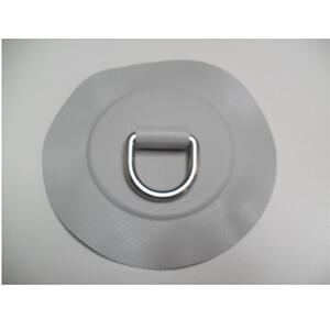 Circular PVC Patch with Eye Grey 100x25mm
