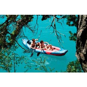 Tahiti Plus Inflatable Canoe inc. Pump + 2 Paddles