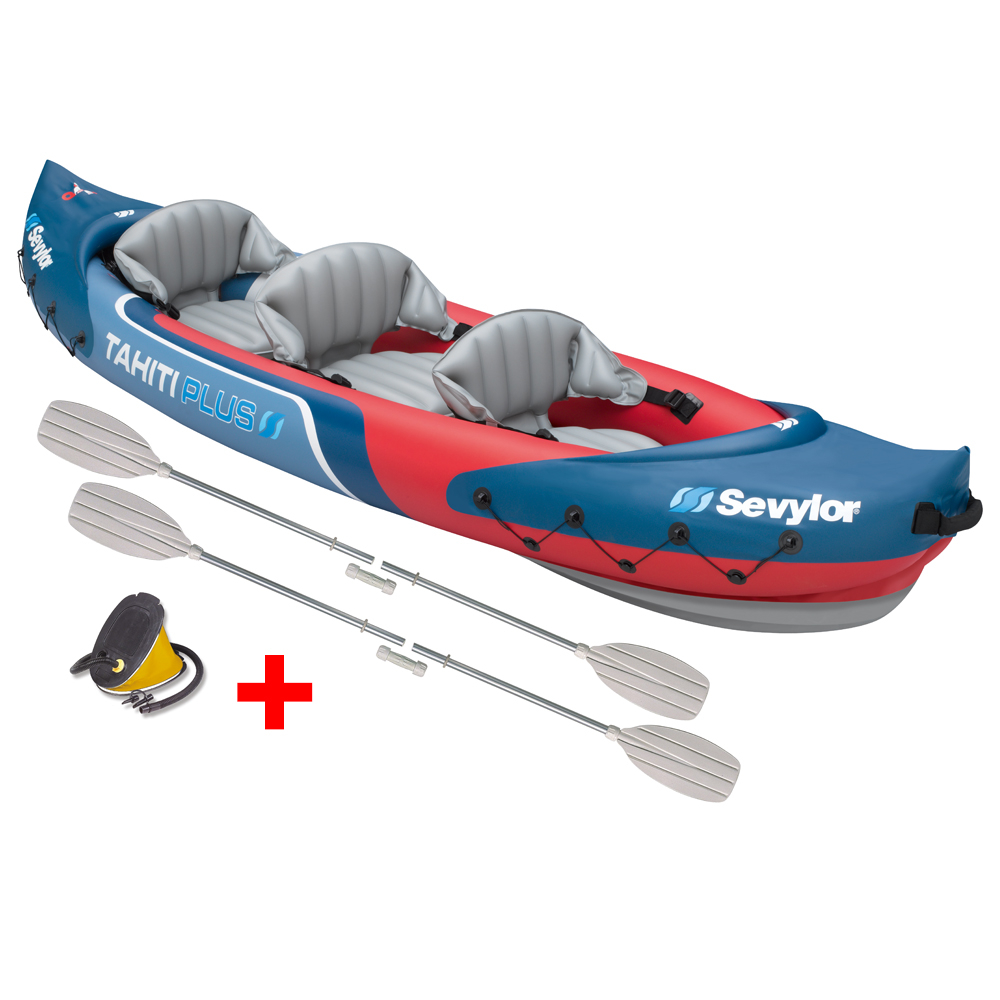 Tahiti Plus Inflatable Canoe inc. Pump + 2 Paddles
