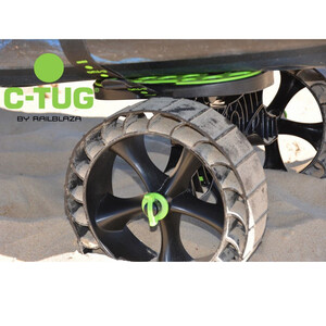 C-Tug Kayak Cart with Puncture-Free SandTrakz Whee