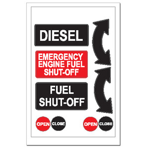 Sticker - Diesel Fuel Shut Off