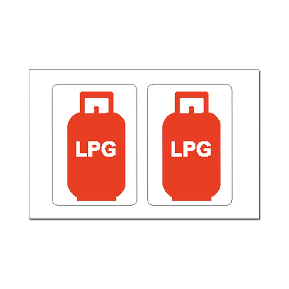 Sticker - LPG Gas Bottle