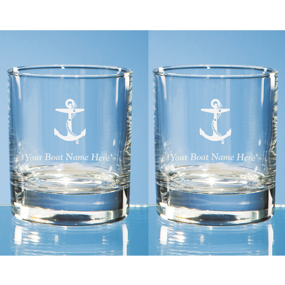 Pair of Personalised Anchor Motif Tumblers