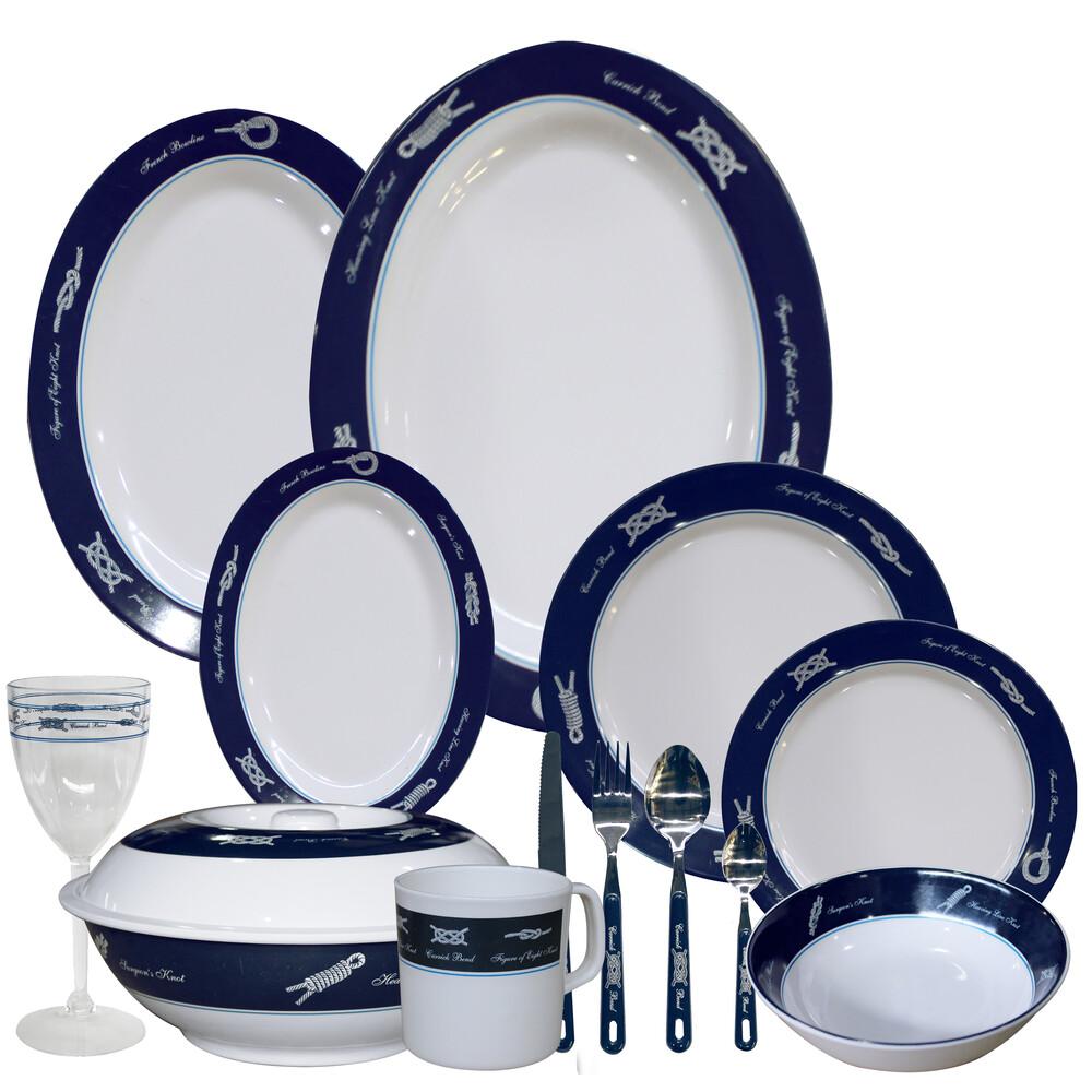 Sea-Knot 6 Setting Melamine Tableware Set