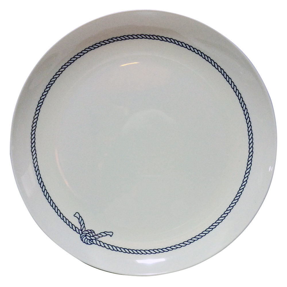 Blue Rope Melamine Dinner Plate