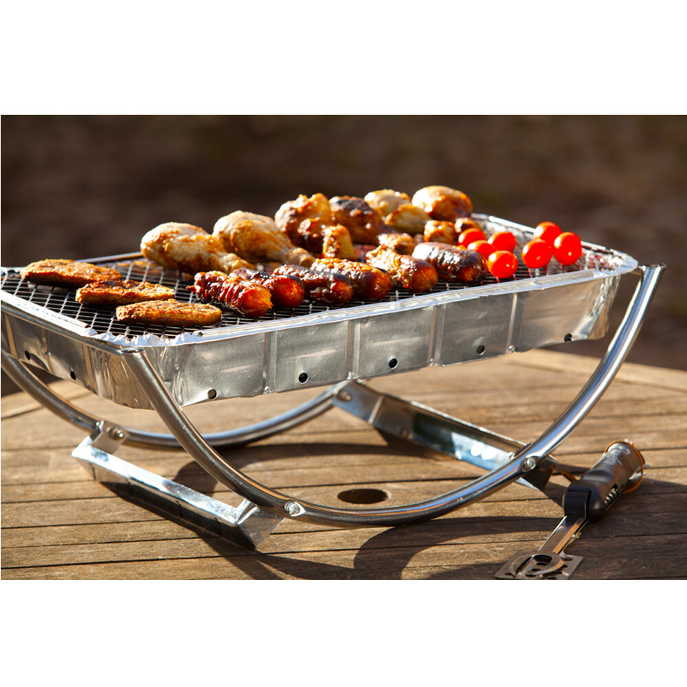 Dual Barbecue Stand with Disposable Barbecue