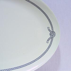 Blue Rope Melamine Oval Dish