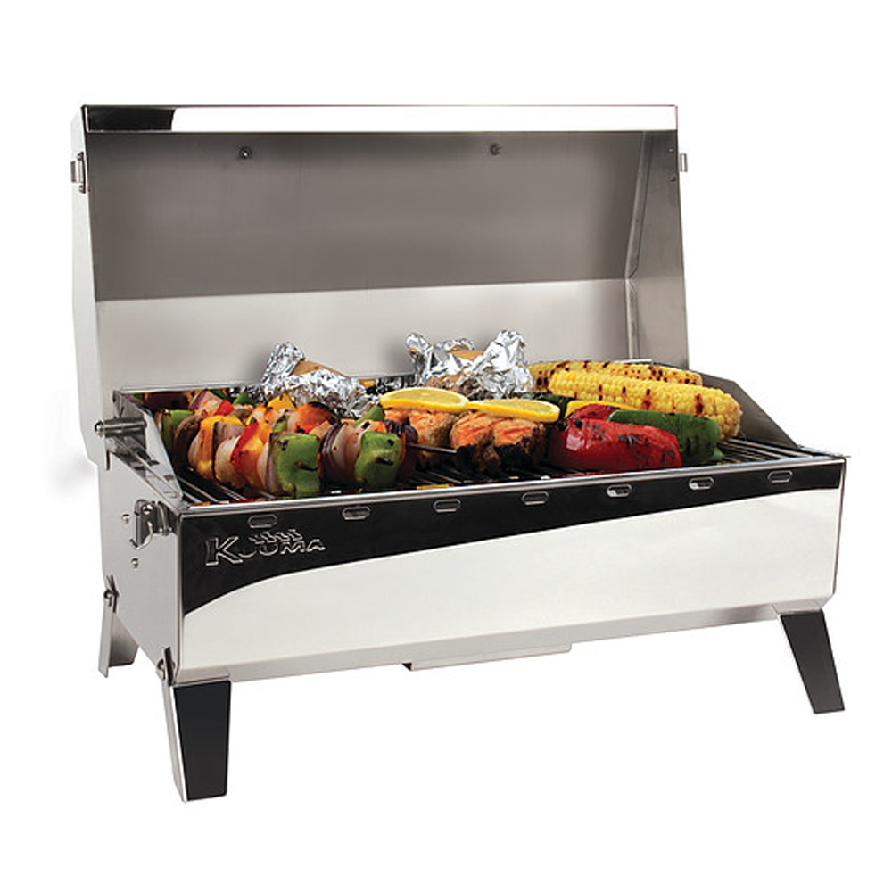 160 Portable Charcoal Barbecue with Rail Mount and Storage Bag