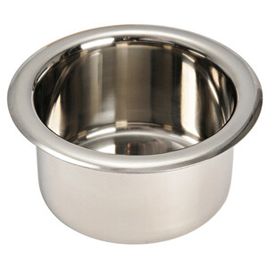 Recessed Glass/Can Holder - Stainless Steel