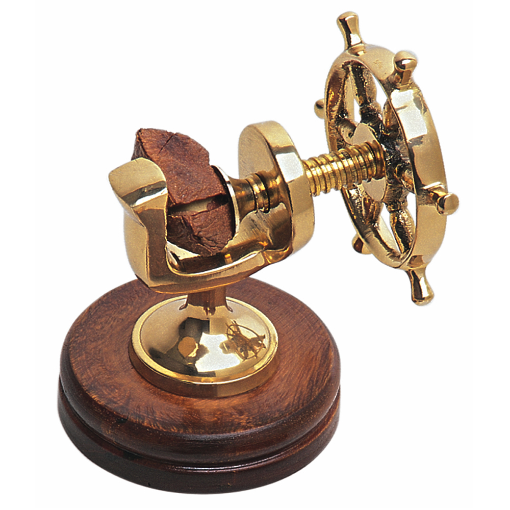 Brass Ship's Wheel Nutcracker