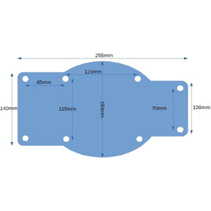 Blakes  Universal Mount Plate