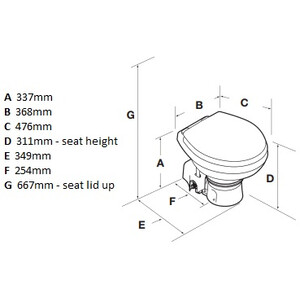 Masterflush 12V Orbit Toilet