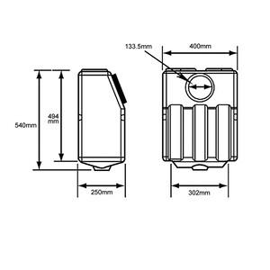 Zefiro Bulkhead Mounted Waste Water Tank
