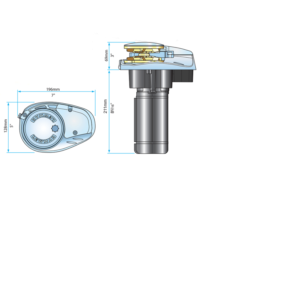 V700 Vertical Windlass 12V 6&7mm