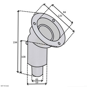 Angled Fuel Filler with Lockable Cap