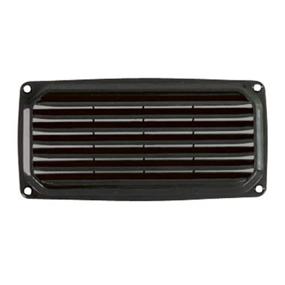 ABS Louvre Vent 201x101mm Black