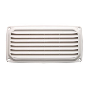 ABS Louvre Vent 201x101mm White