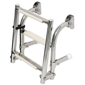 Extra Narrow 3-Step Stainless Steel Ladder