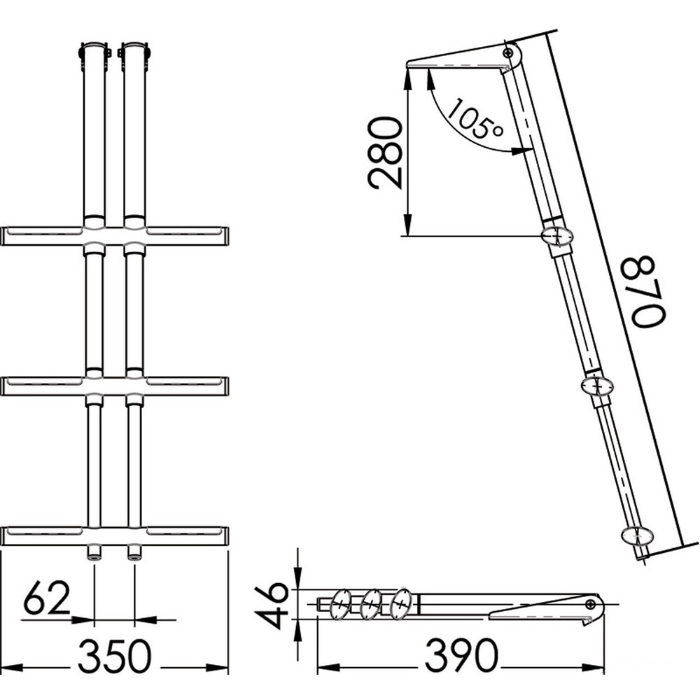 Diver Telescopic Ladder