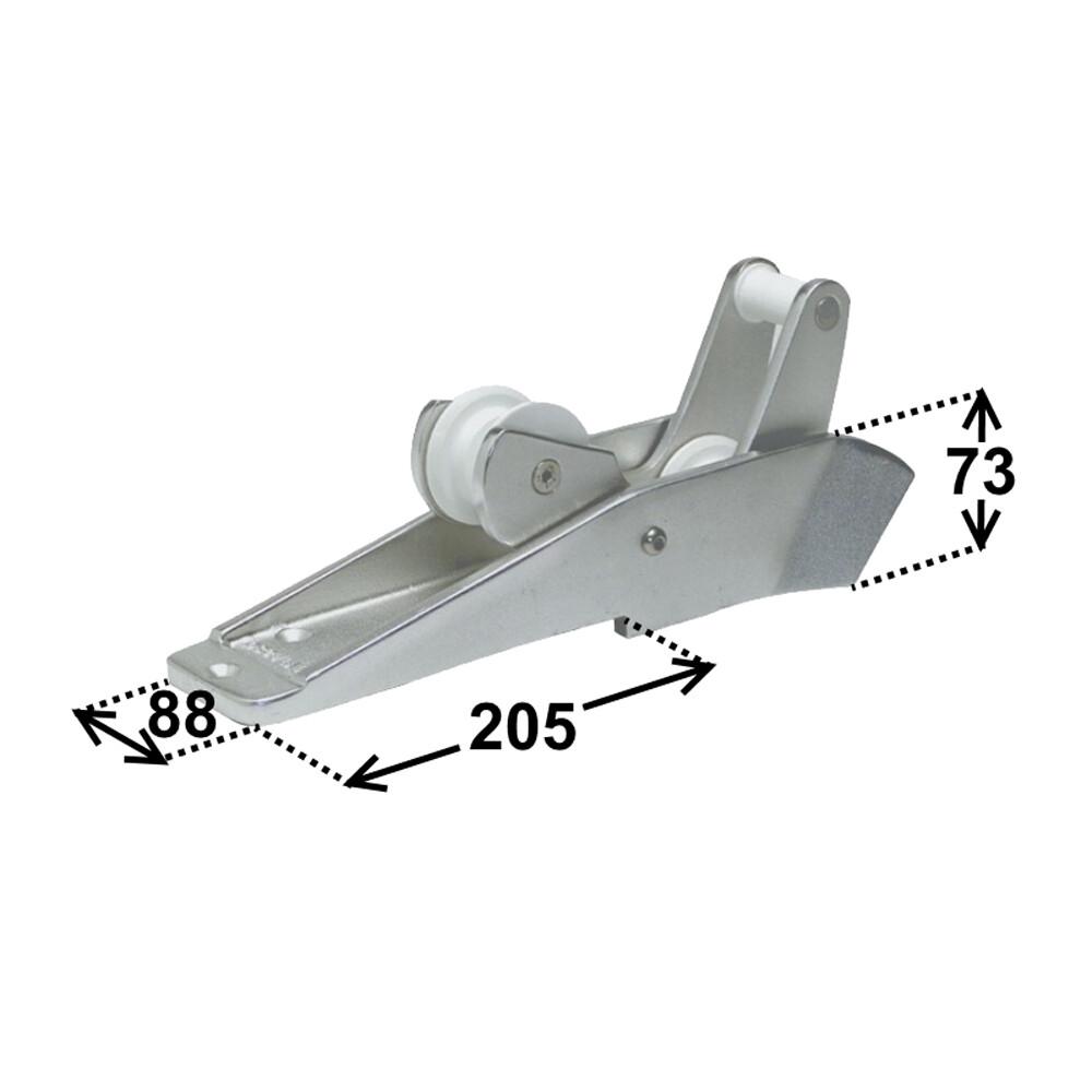 Aluminium Tilting Bow Roller