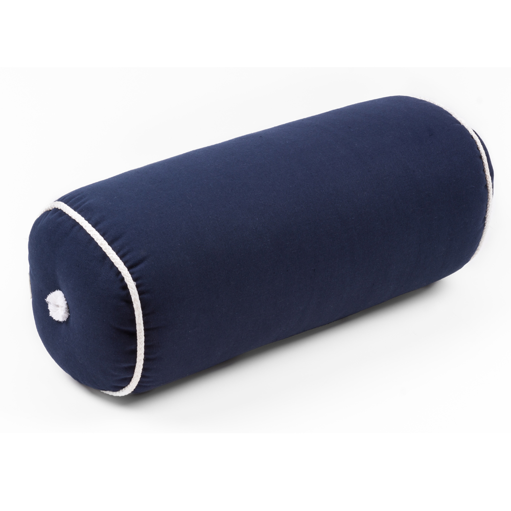 Marine Roll Cushion Blue