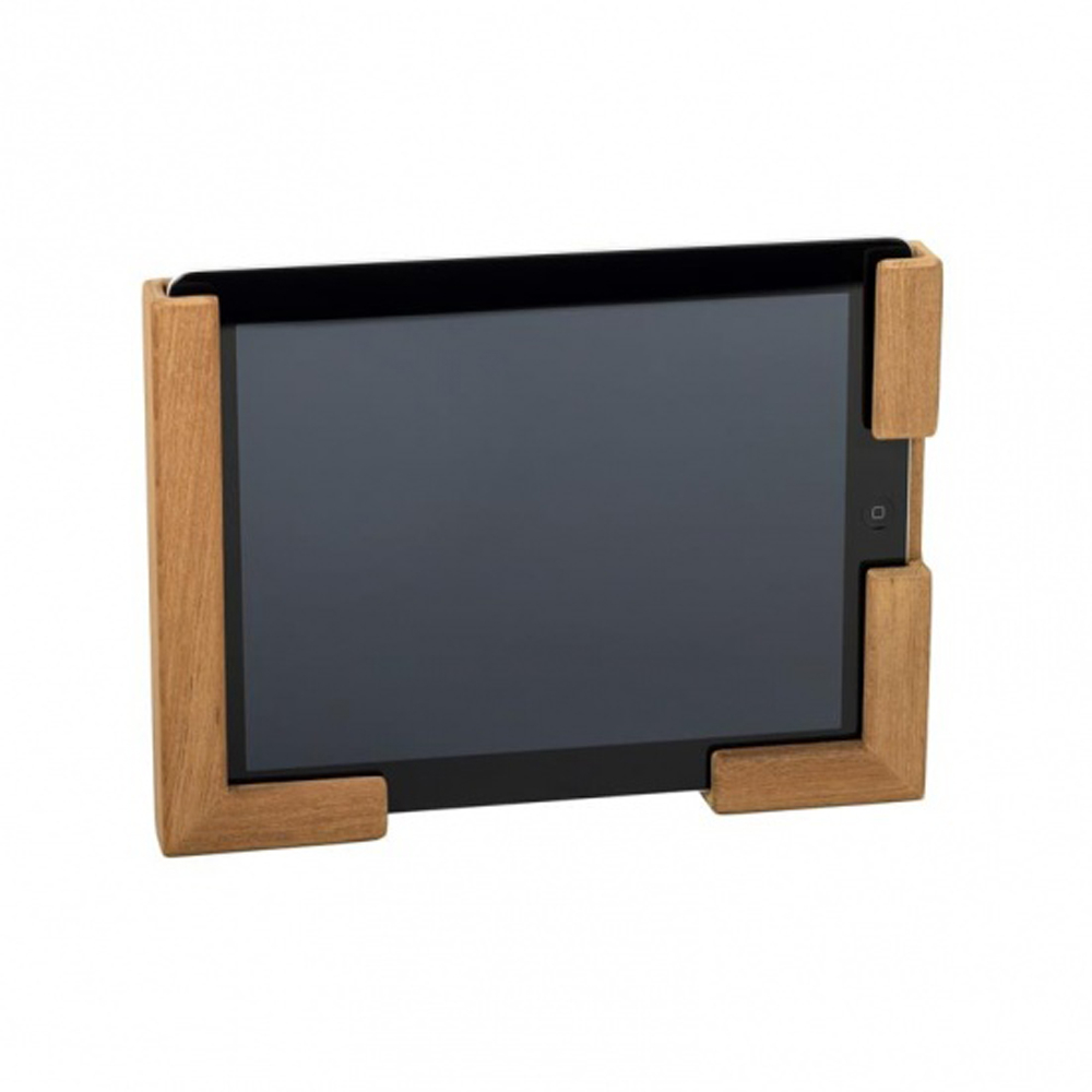 Teak iPad and Tablet Holder