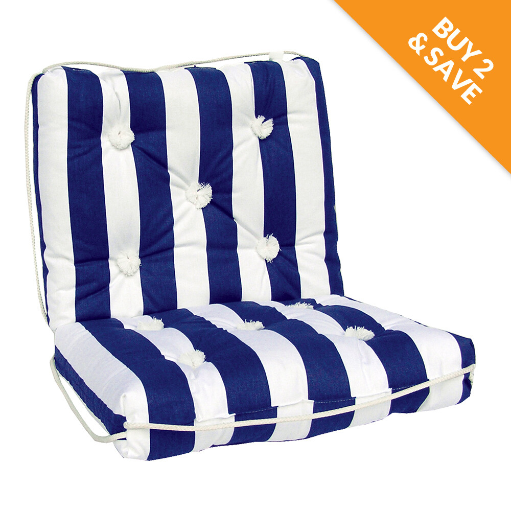Marine Cushion Navy/White Double