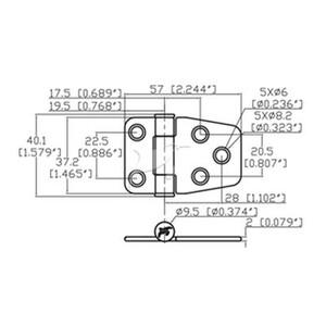 Torque Hinge 57x37.2mm